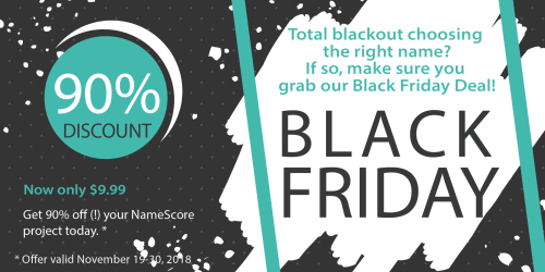 Black Friday Deal for NameScore