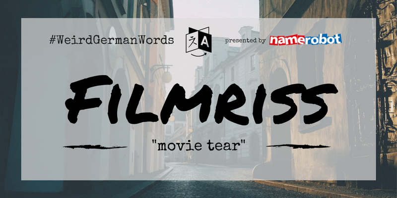 "Filmriss (literal translation: ""movie tear"") –  A blackout from drinking to much."