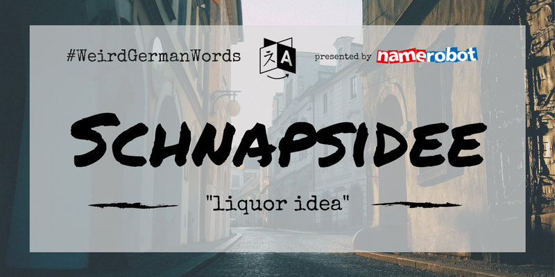 "Schnapsidee (literal translation: ""liquor idea"") –  A crazy idea – doesn't even have to involve booze."