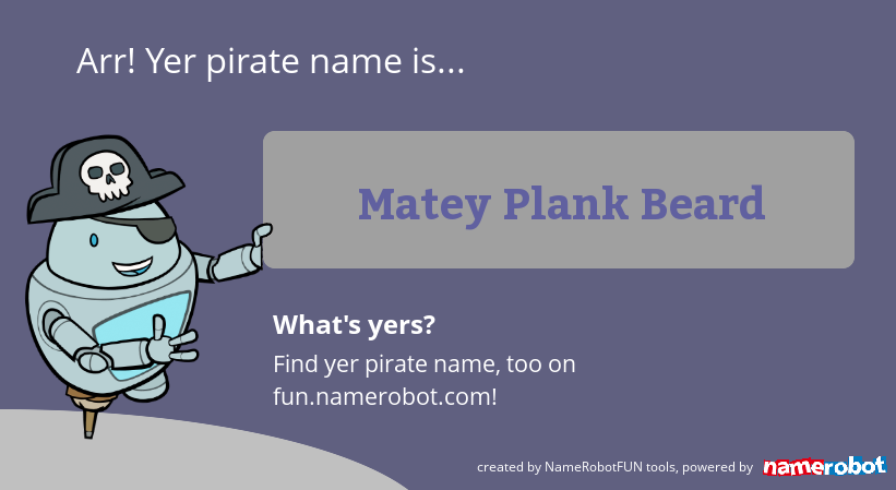 What's your true name? New fun name generators