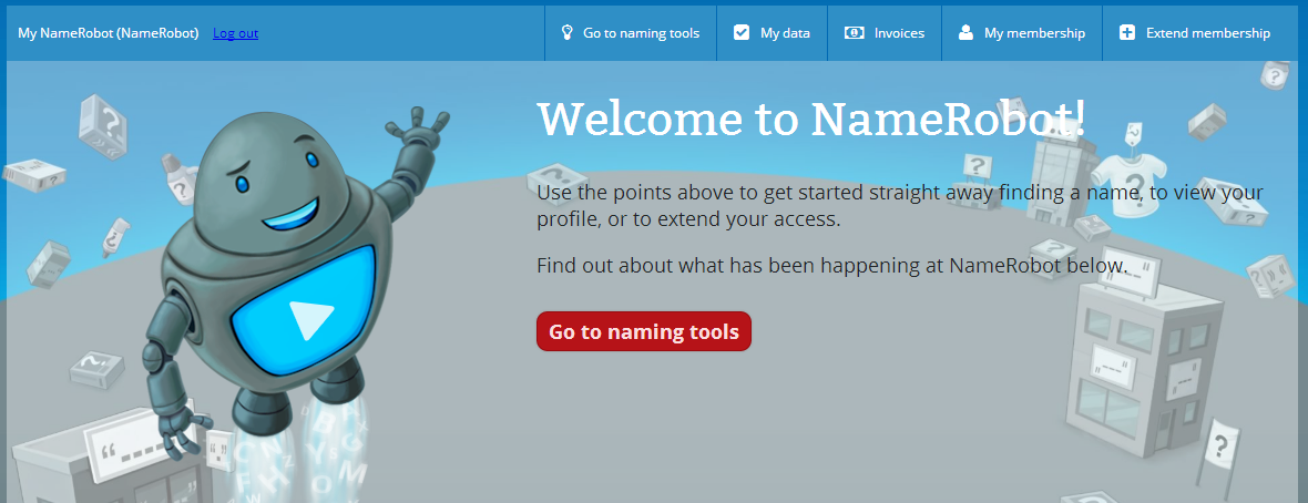 Go to NameRobot tools